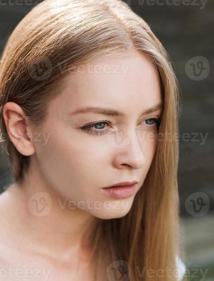close-up van mooi meisje foto