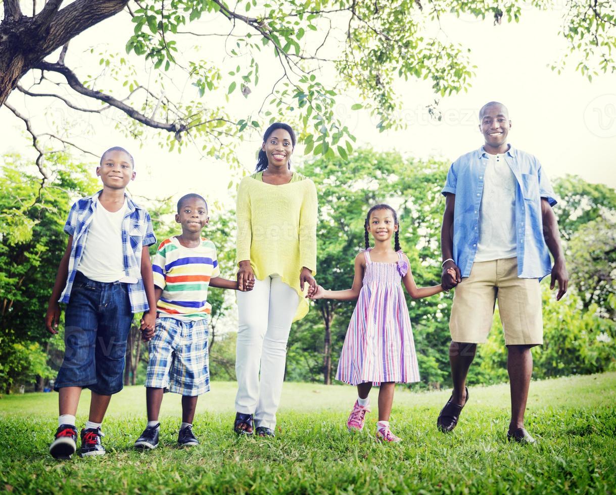 Afrikaanse familie geluk vakantie vakantie activiteit concept foto