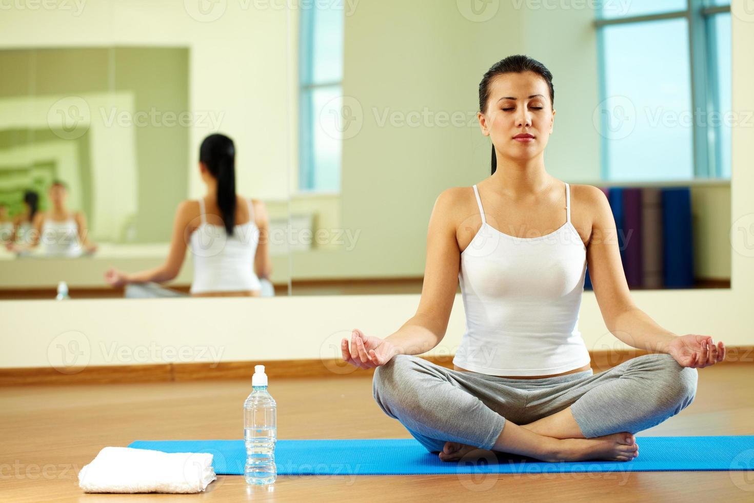 yoga oefening foto