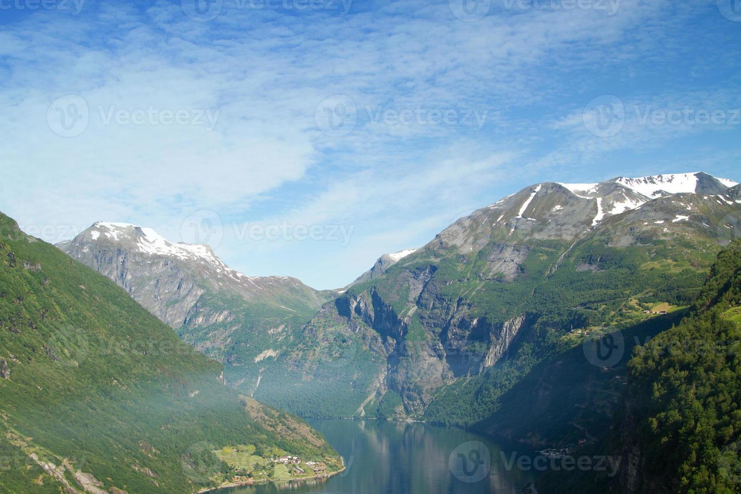 Noord-Noorse fjorden. foto