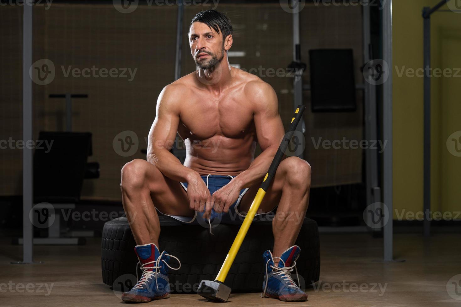 portret van een fysiek fit man foto