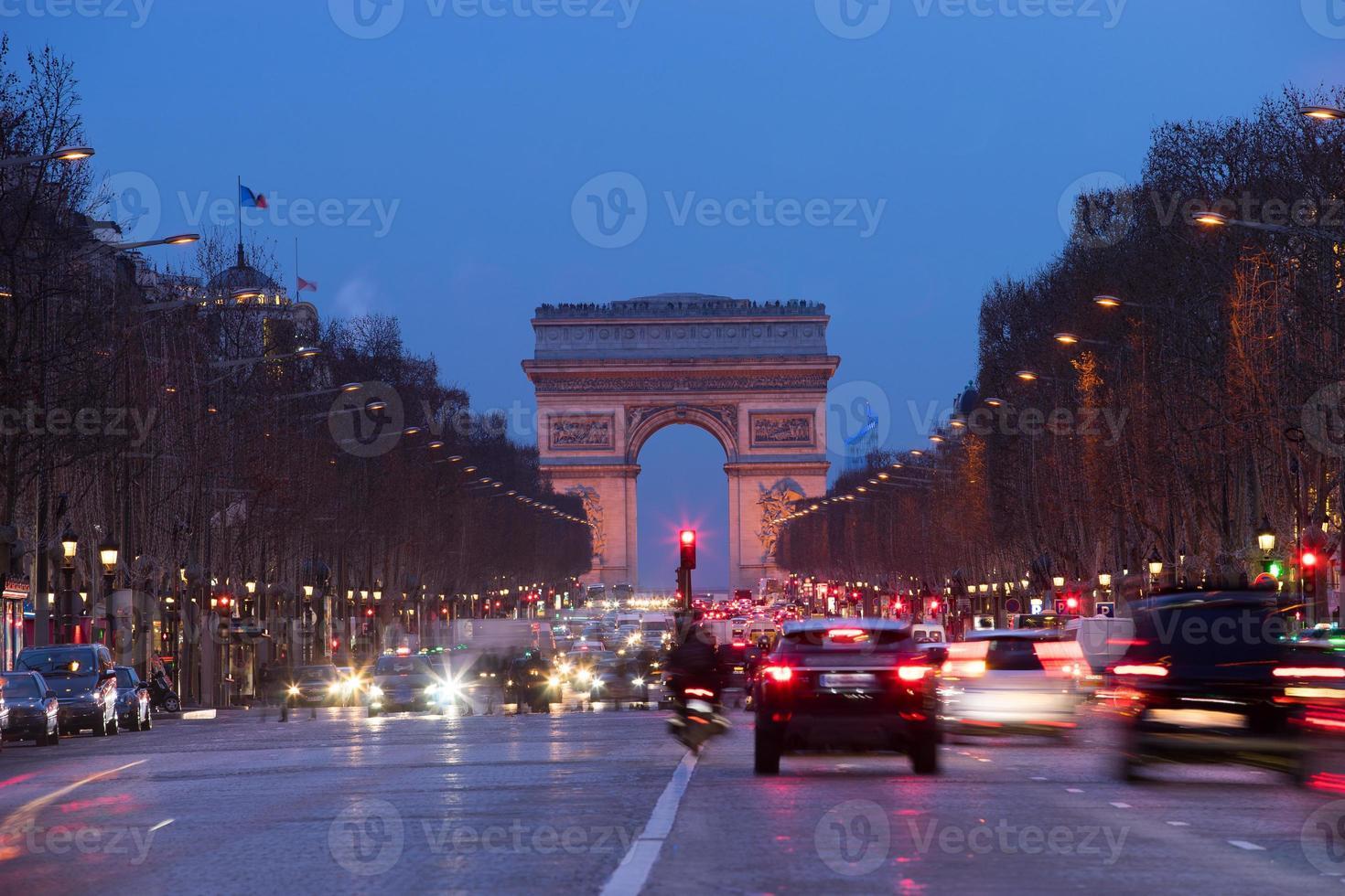 parijs, champs-elysees, arc de triomphe foto