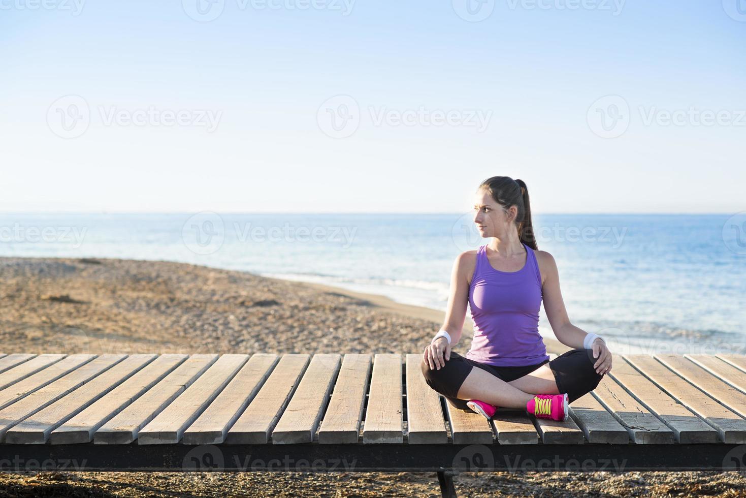 training op het strand foto