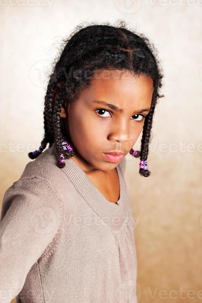 boos meisje. foto