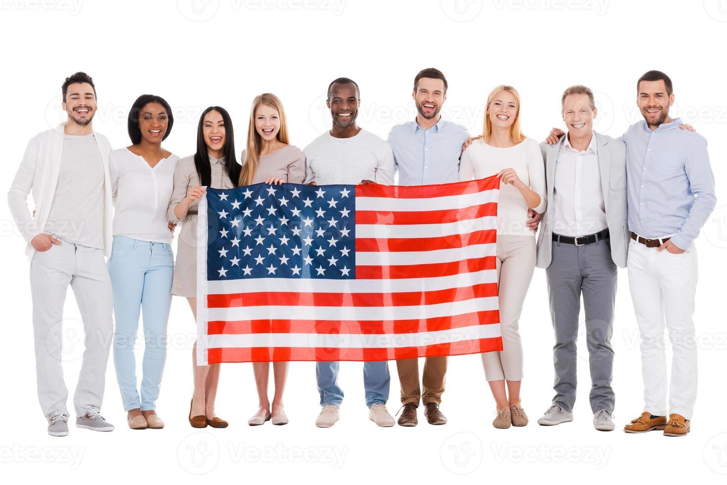 team van amerika. foto