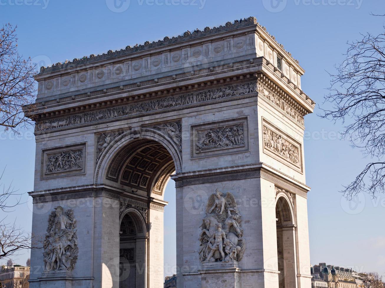 Parijs - Arc de Triomphe foto