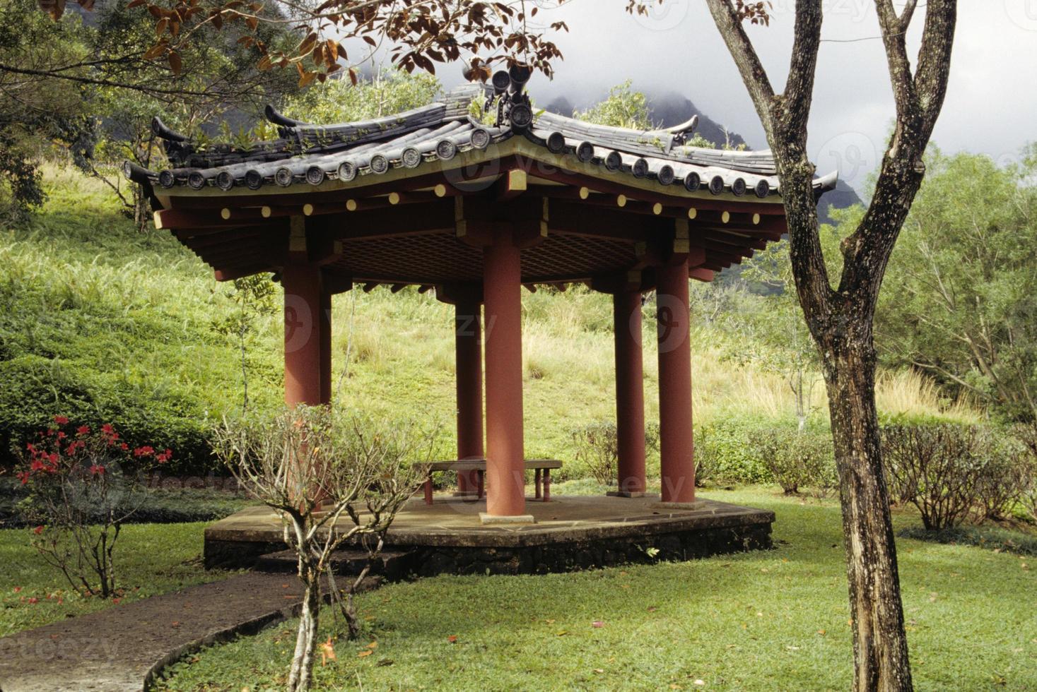 Aziatische tuinhuisje foto