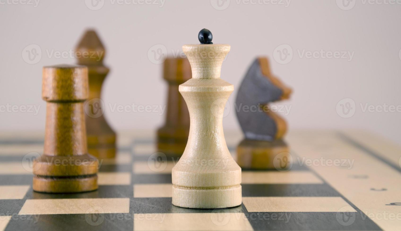 schaakbord en cijfers foto