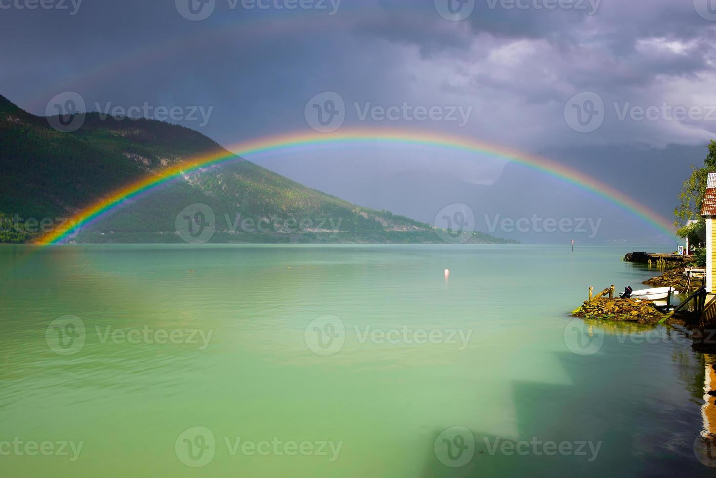 dubbele regenboog foto