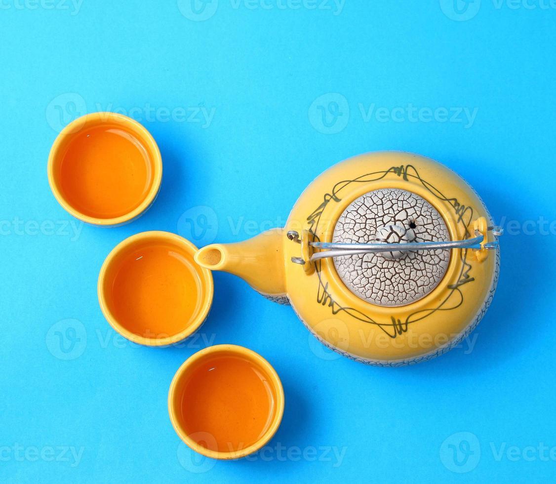 Aziatische theeset foto