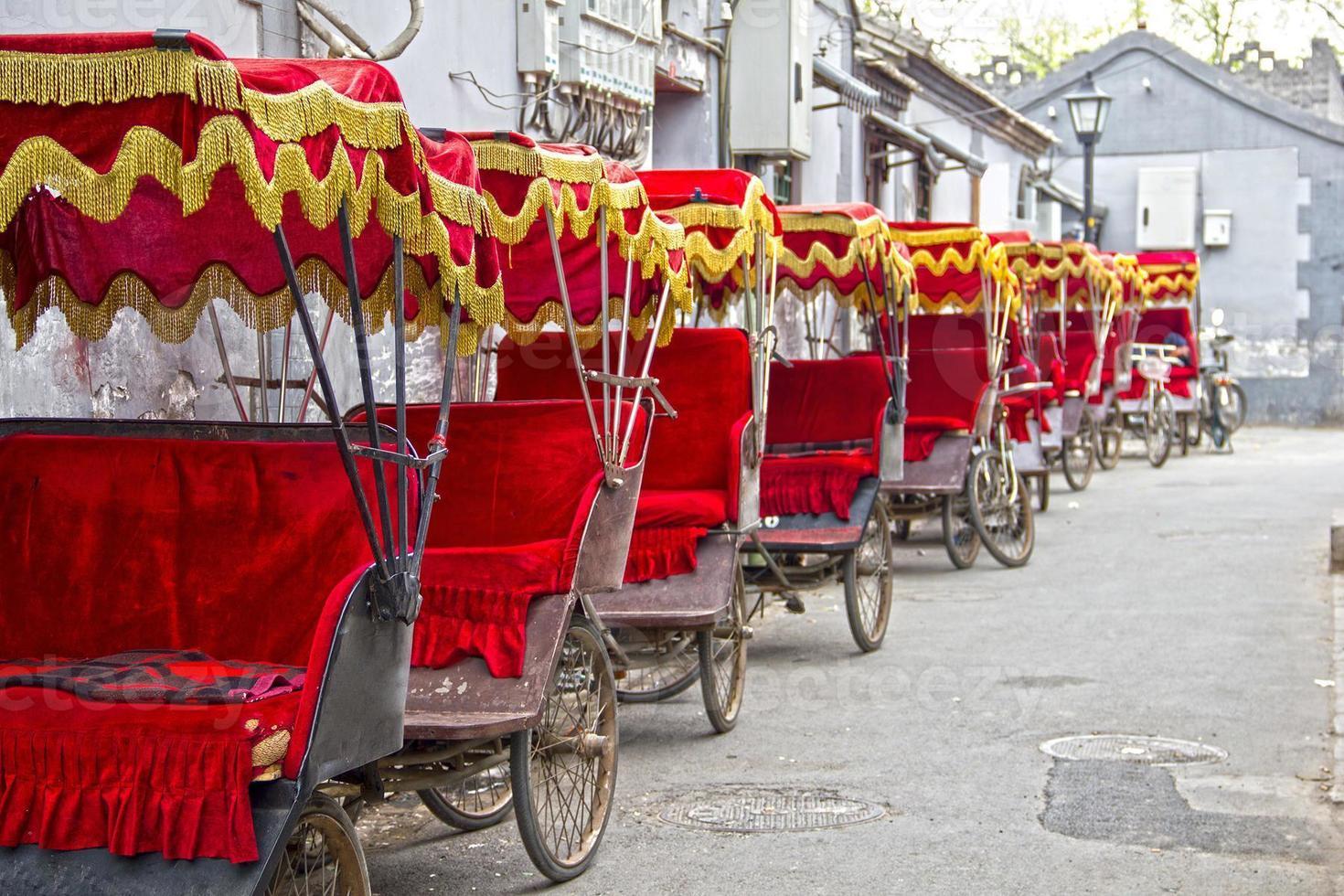 typische Aziatische riksja's foto