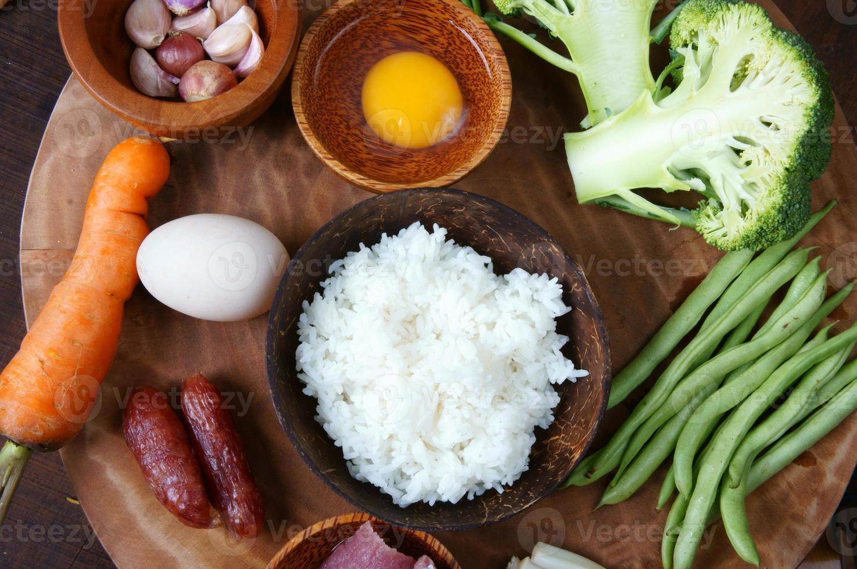 Vietnamees eten, gebakken rijst, Aziatisch eten foto