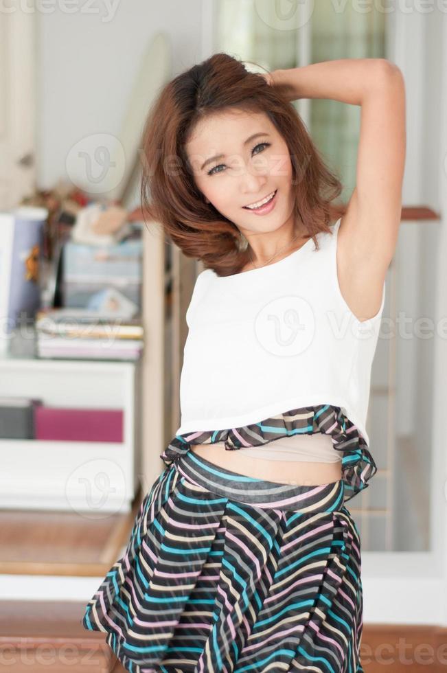 portret mooi Aziatisch meisje foto