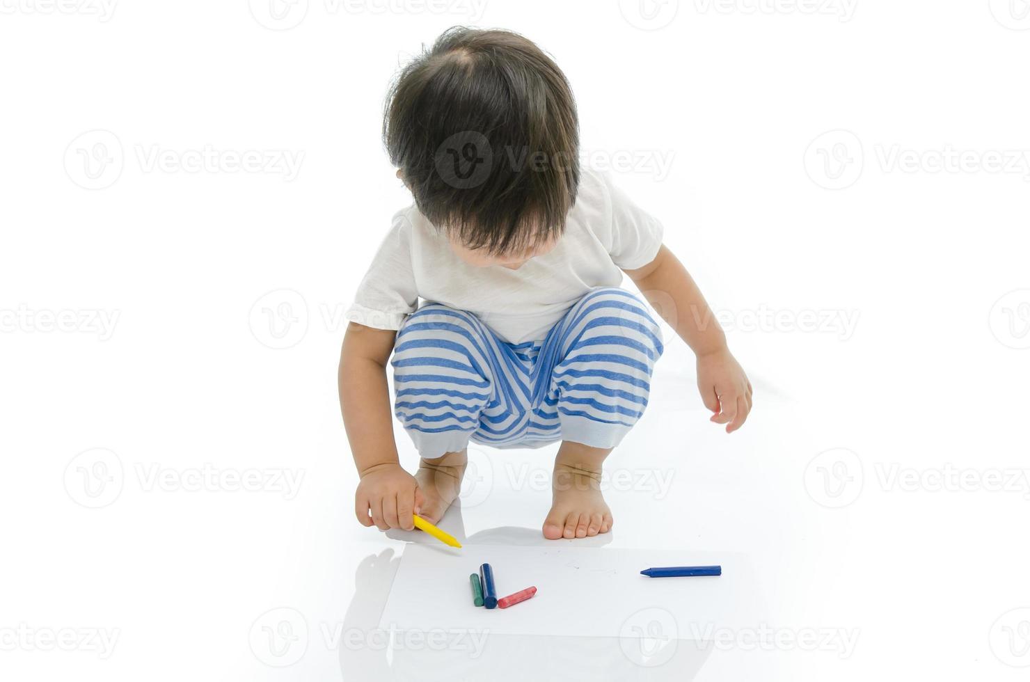 baby Aziatische schrijft foto