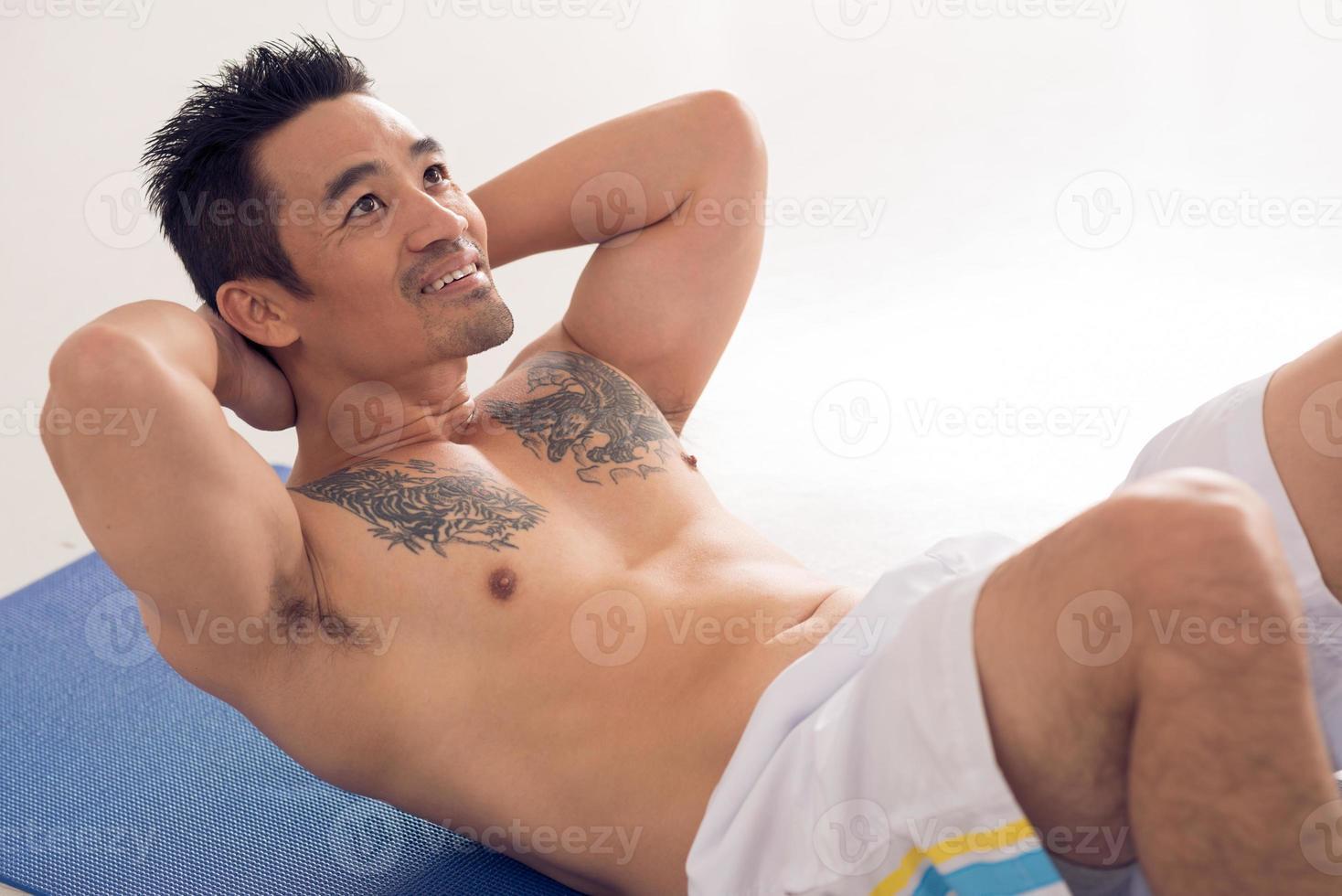 Aziatische atleet foto