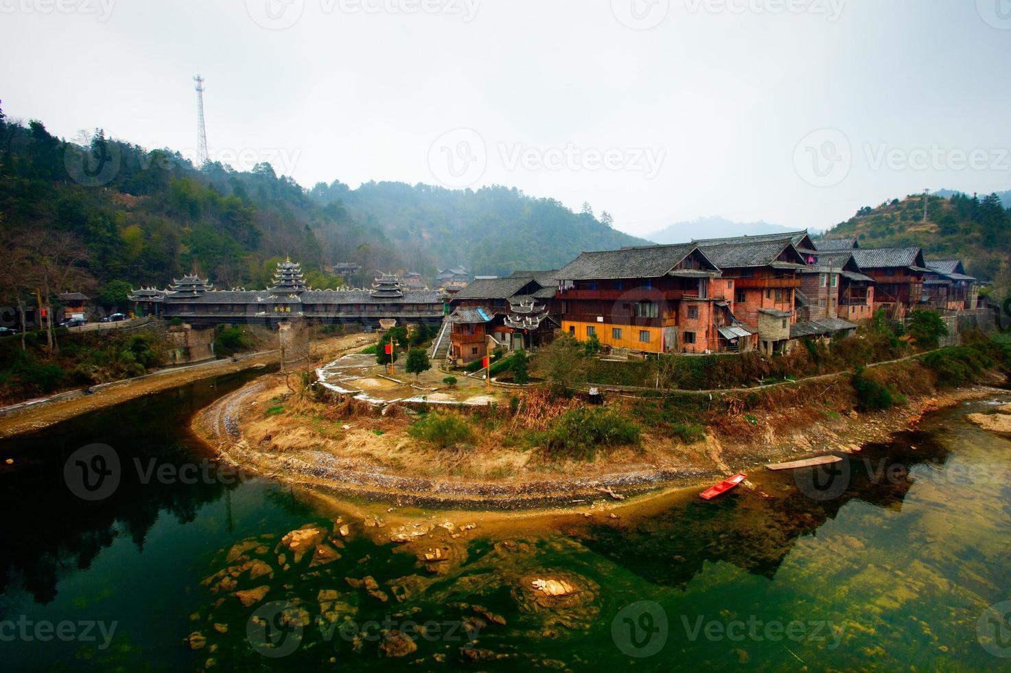 Aziatisch dorp in China foto
