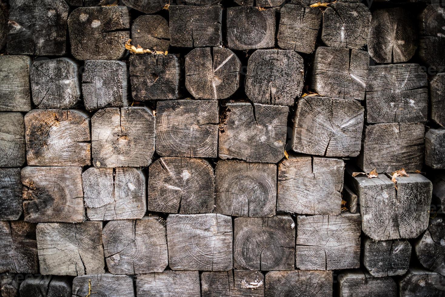 brandhout stapel achtergrond foto