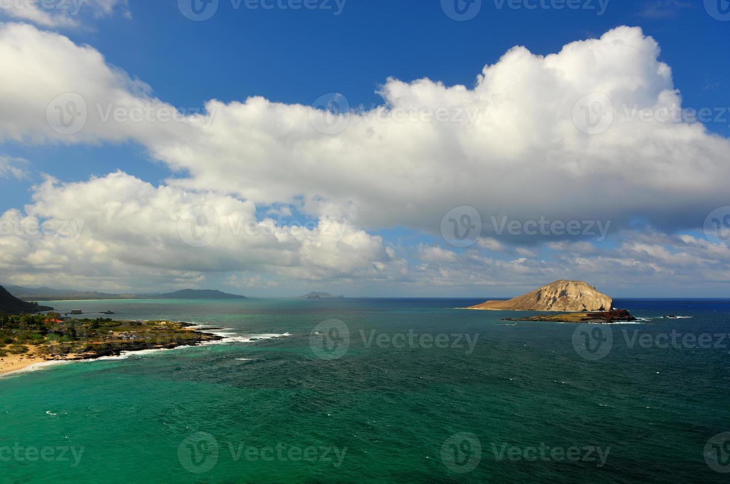 dramatisch landschap van oahu, hawaii foto