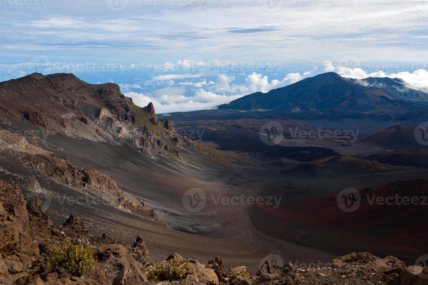 haleakalā krater van binnenuit foto