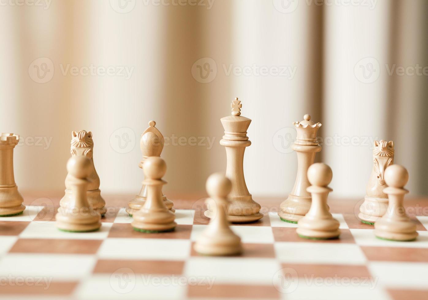 luxe houten schaakspel foto