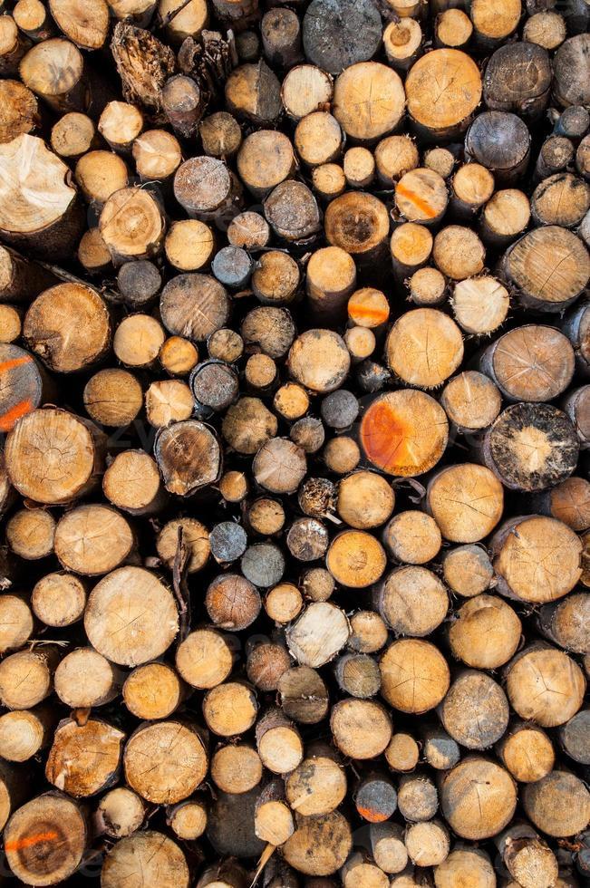 stapel hout foto