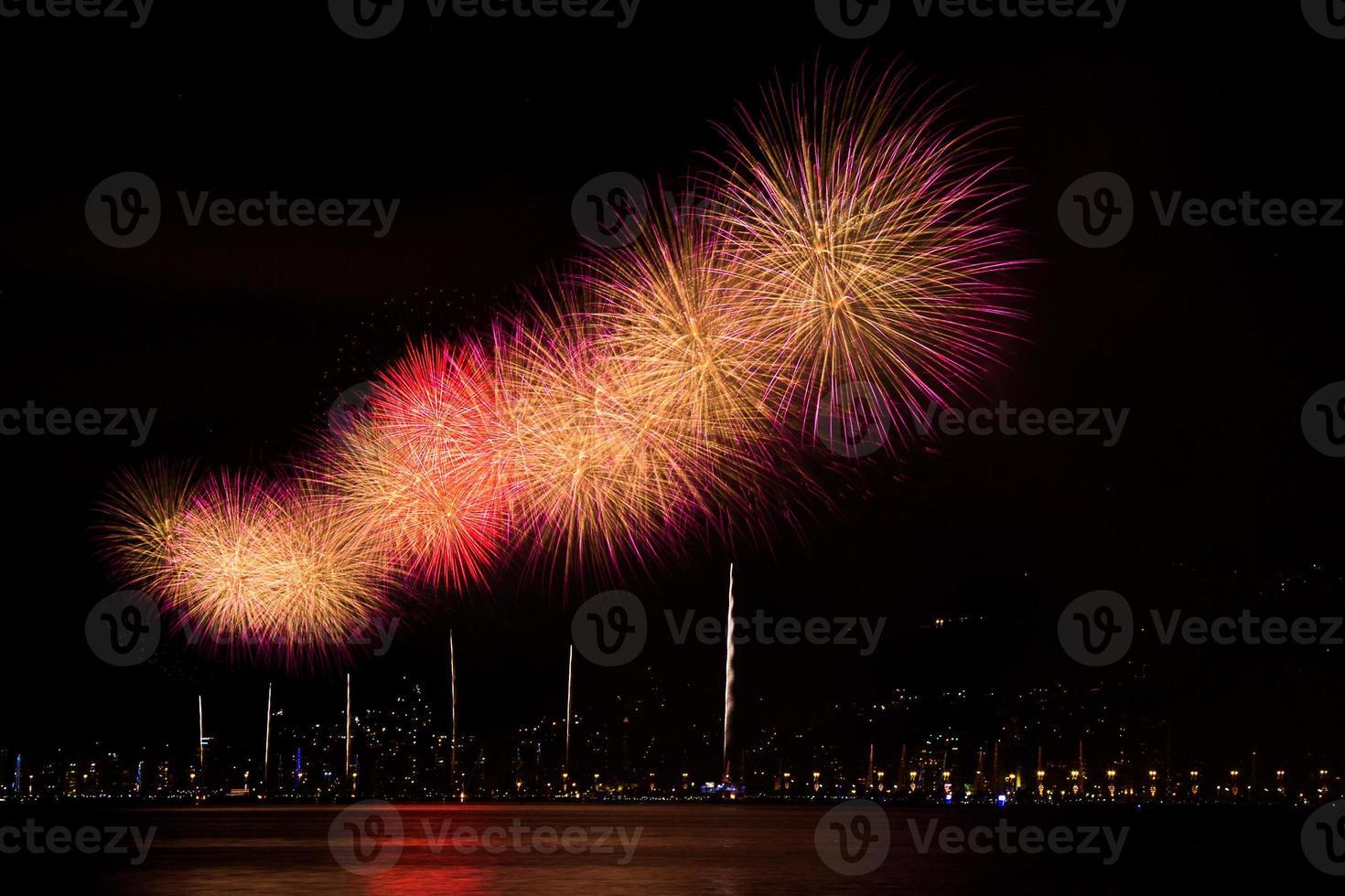 nieuwjaars vuurwerk foto