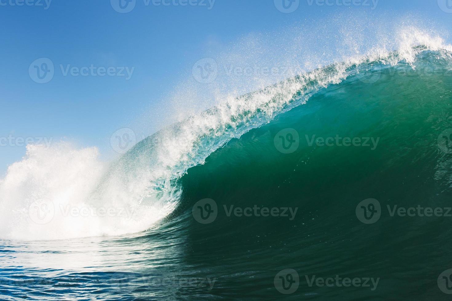 blauwe oceaangolf foto