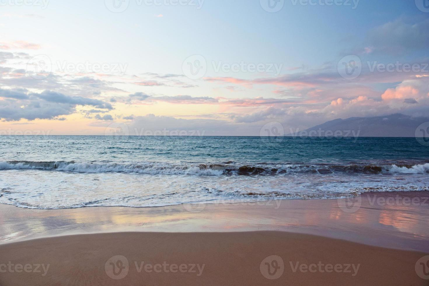 Wailea State Beach zonsondergang foto