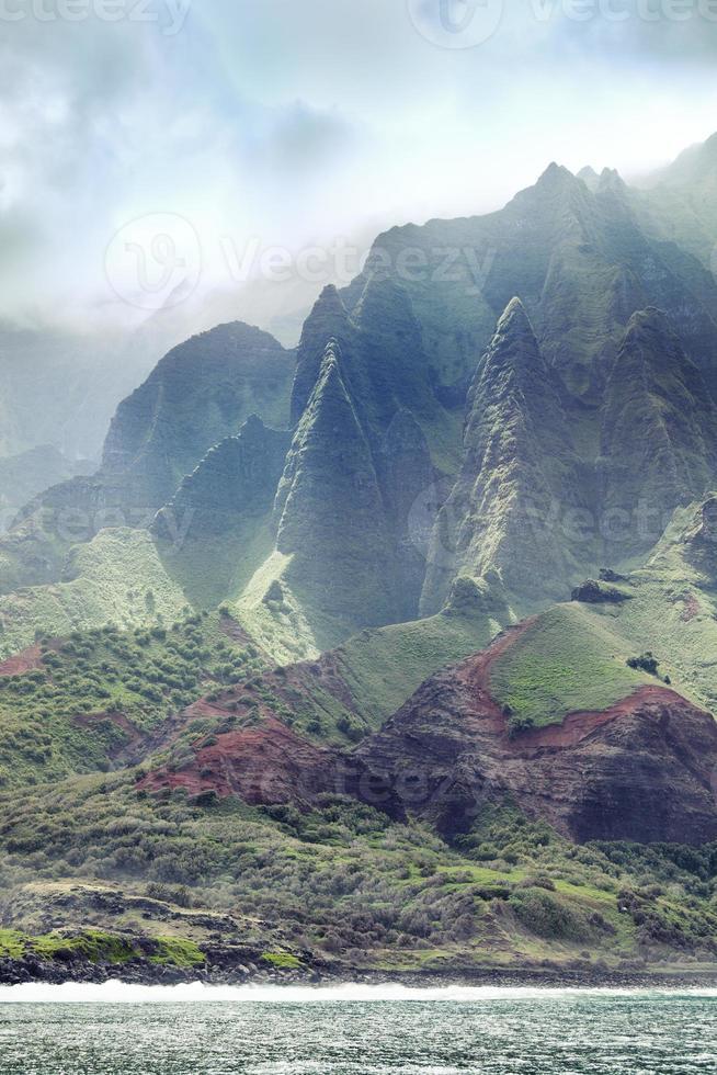 na pali kust van kauai hawaii foto