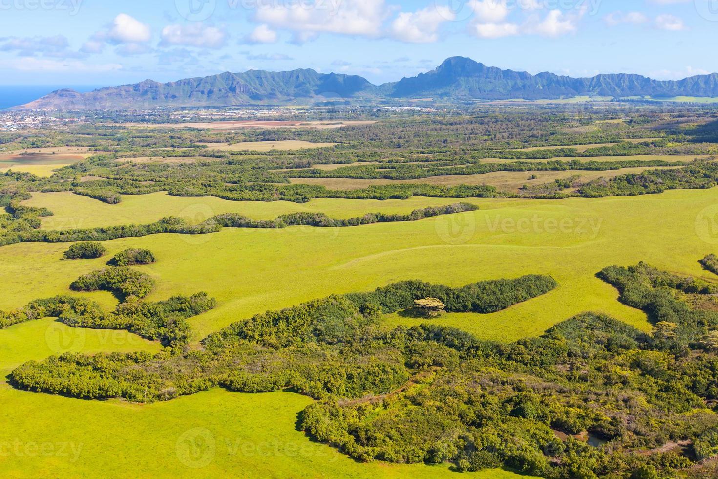 kauai uitzicht vanuit helikopter foto