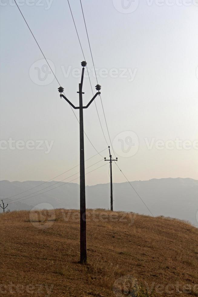 hoogspanningslijn, india foto
