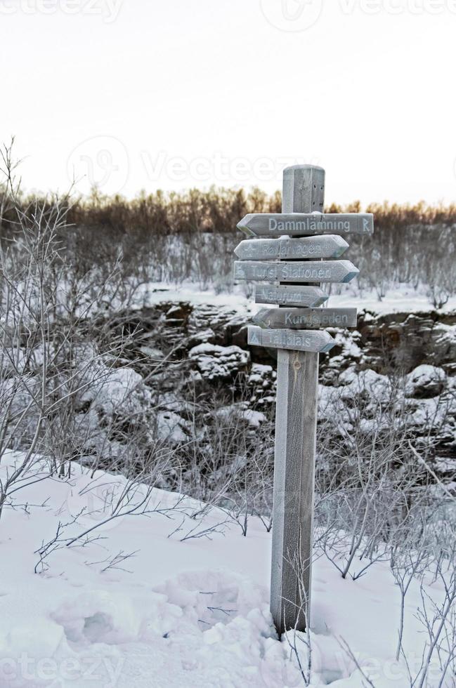 winter in abisko nationaal park foto