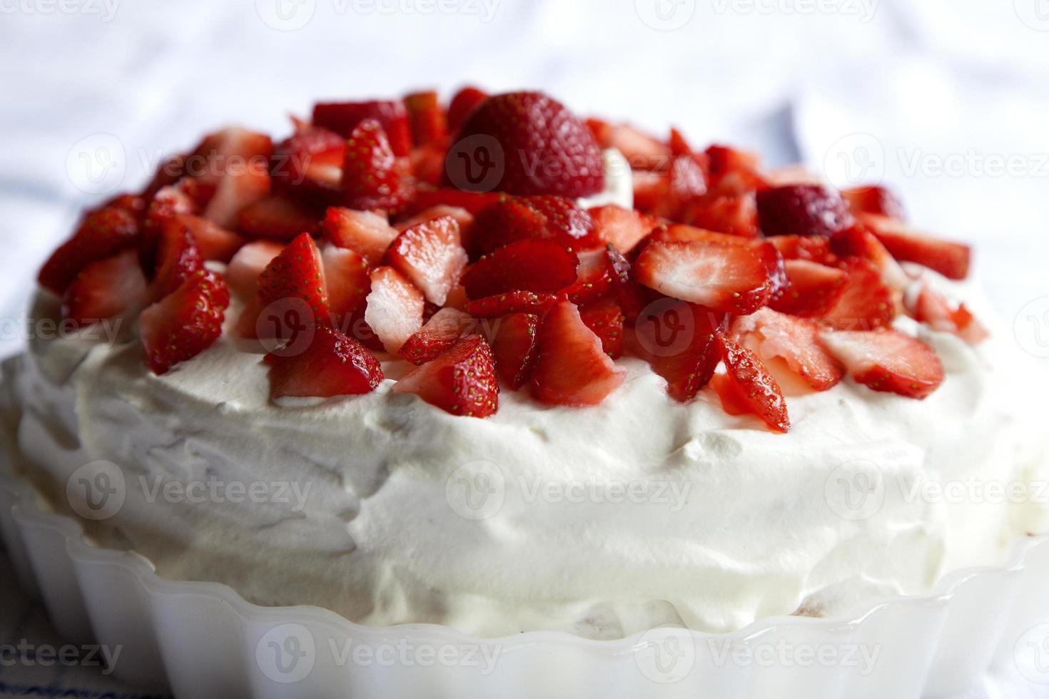 Strawbeery cake foto