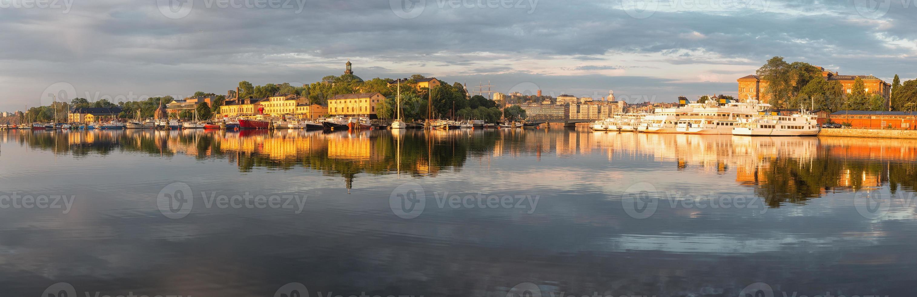 panorama van stockholm. foto