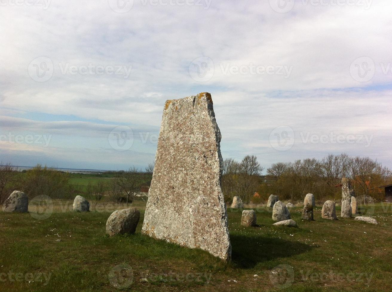 Vikingtijd begraafplaats foto