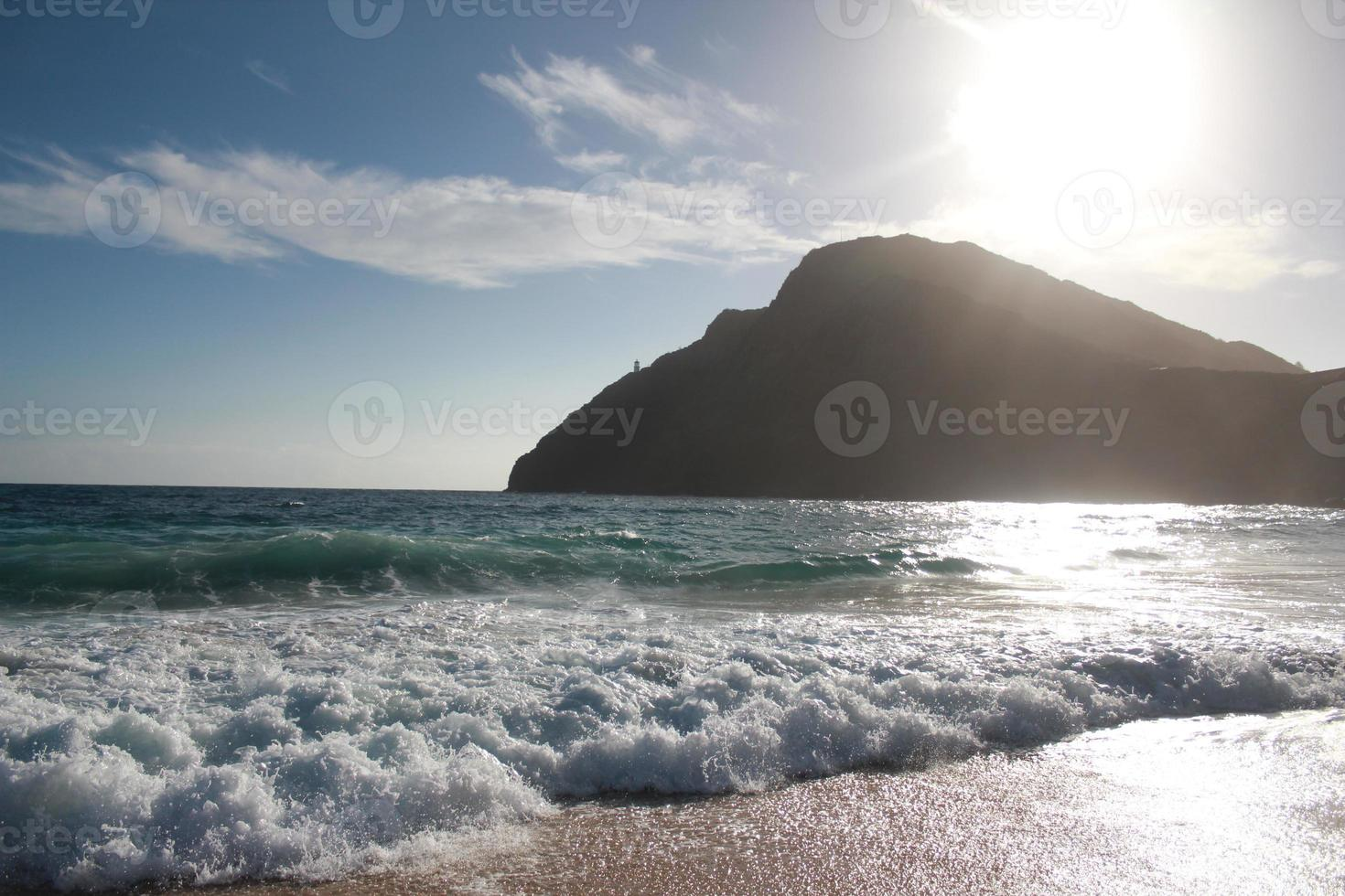 vuurtoren aan de oceaan foto
