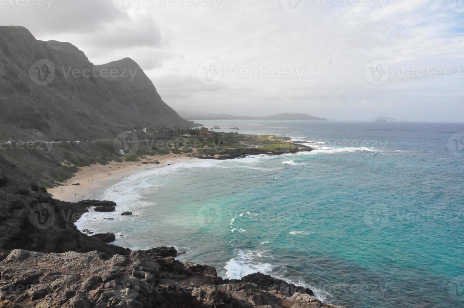 makapuu uitkijkpunt in oahu, hawaii foto