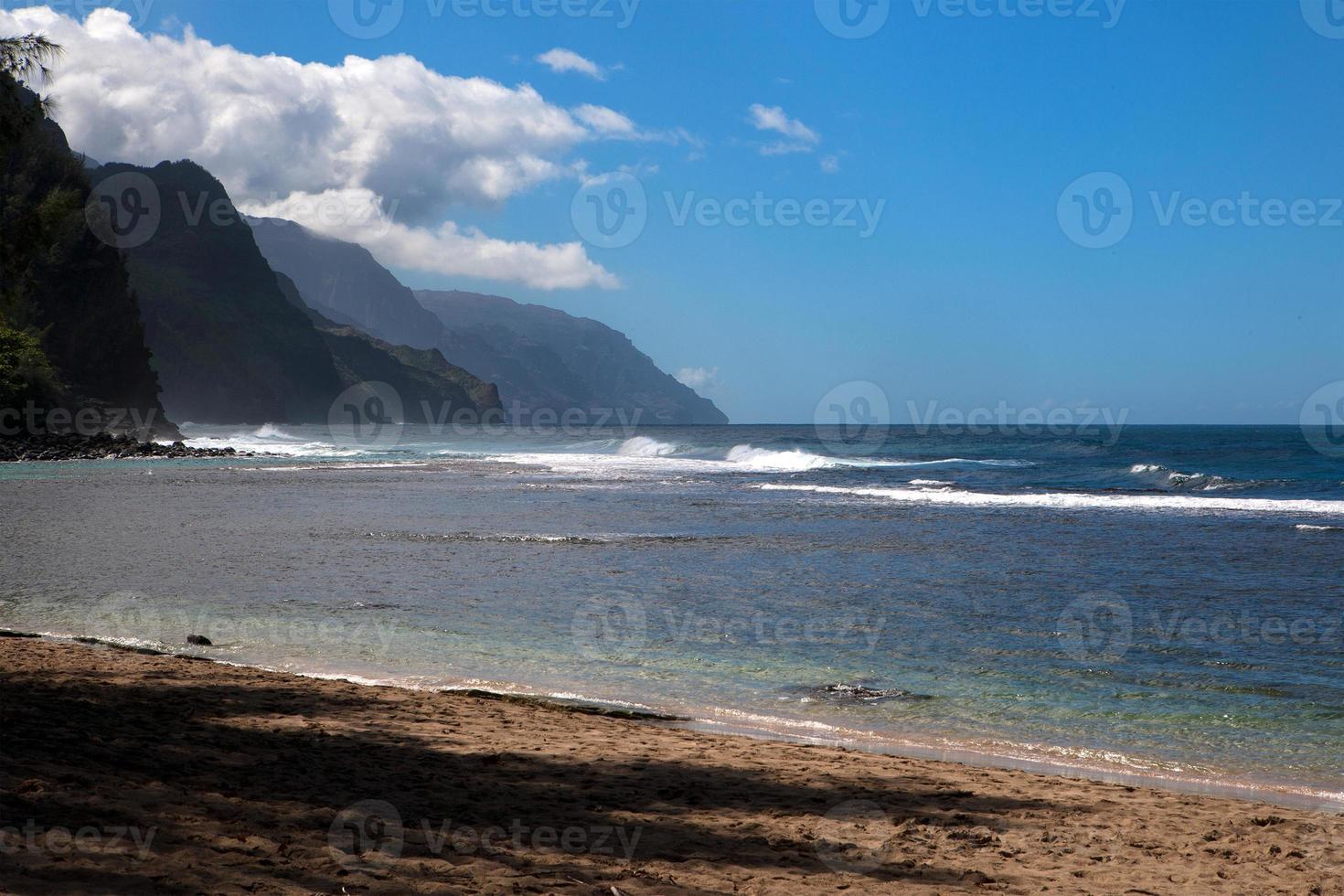 verlaten strand foto