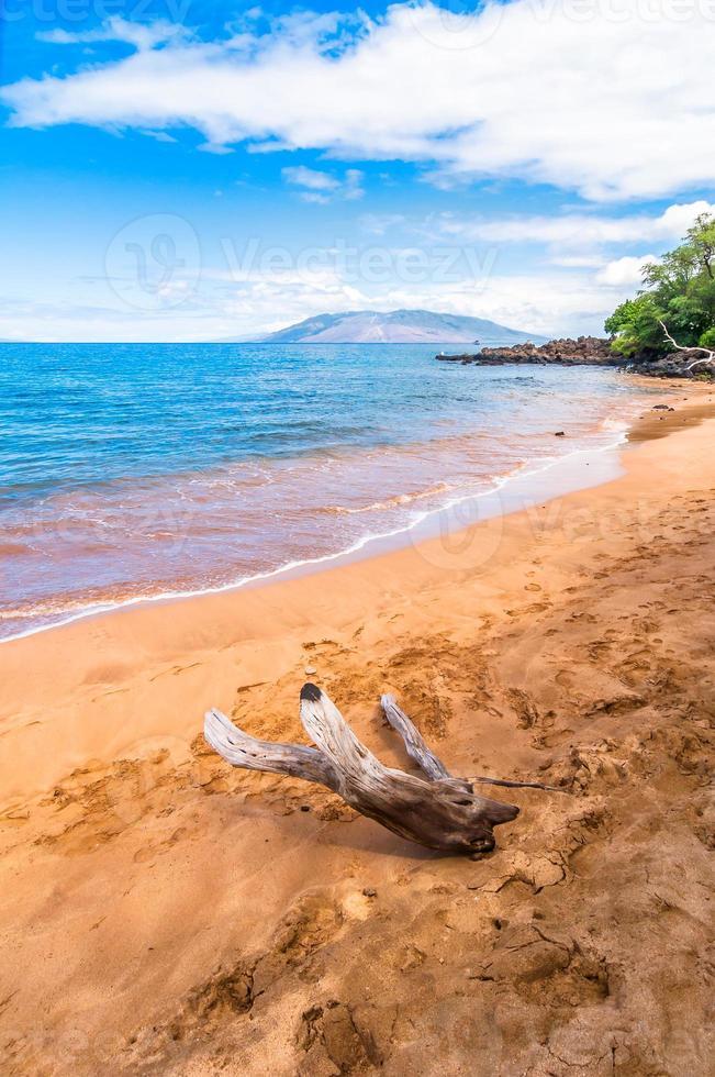 makena beach, bekende toeristische bestemming in maui, hawaii foto