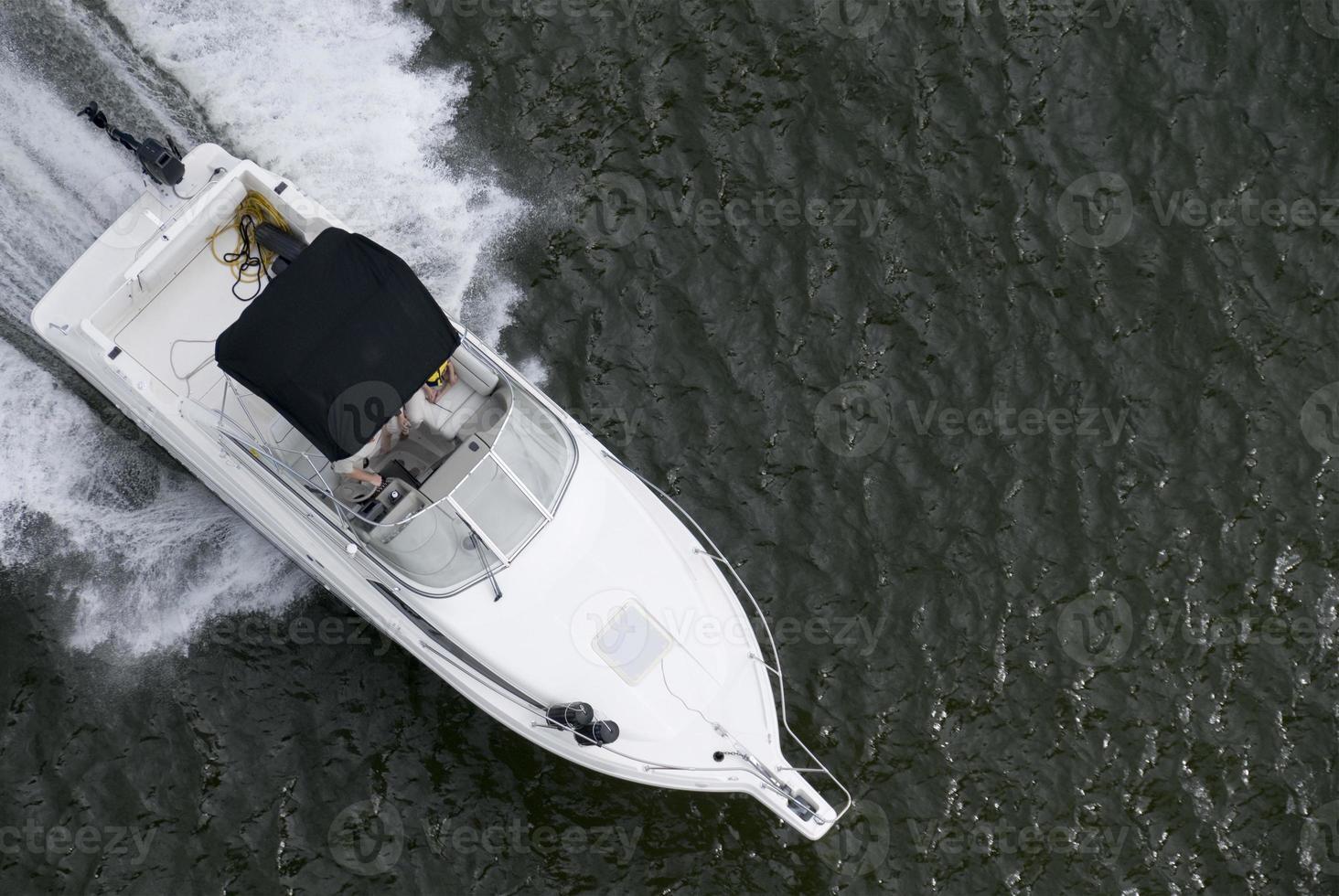 familie speedboot foto