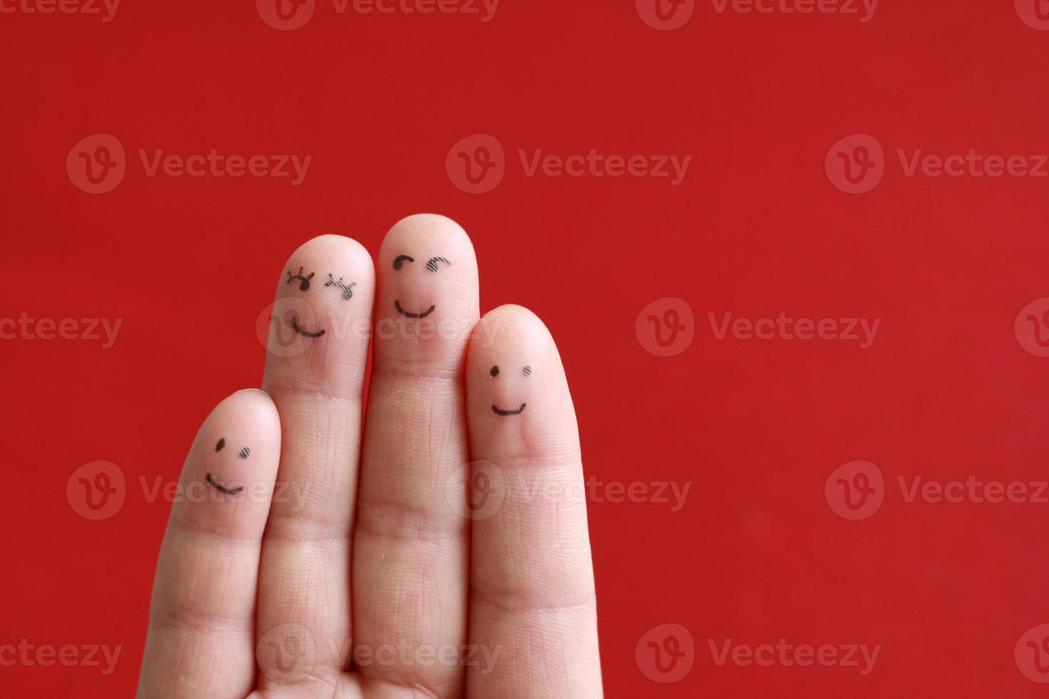 smileygezicht familie foto