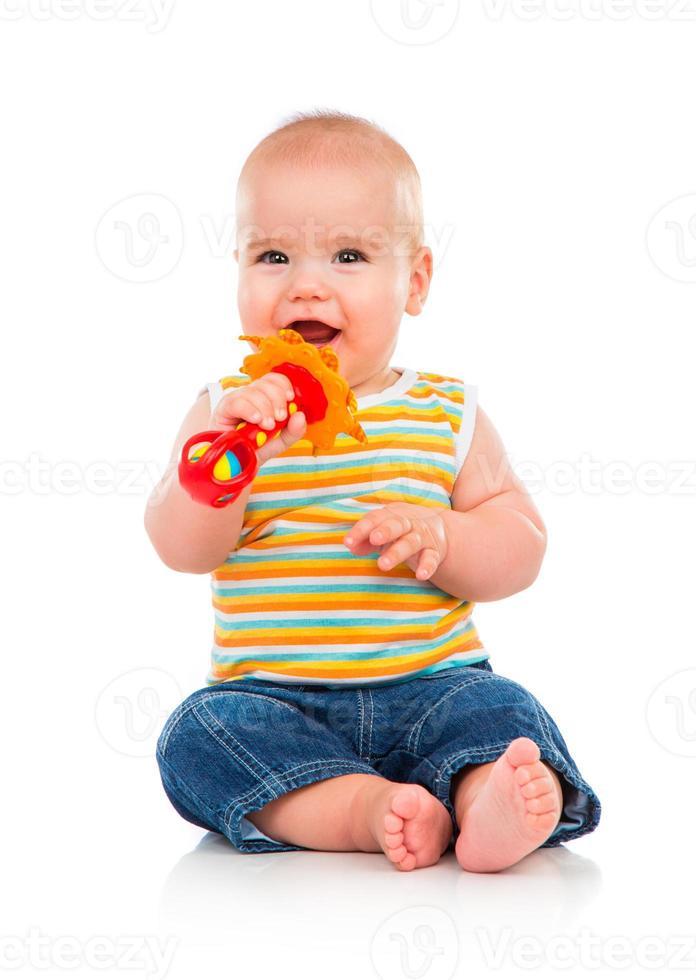 vrolijke kleine baby foto