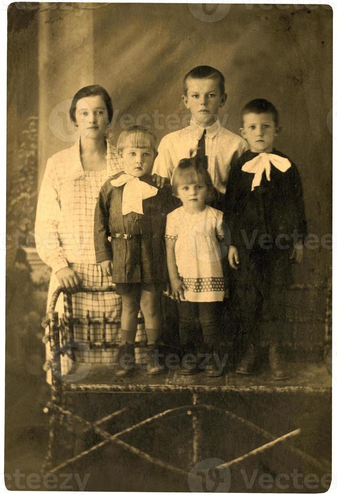familie. vintage portret. foto