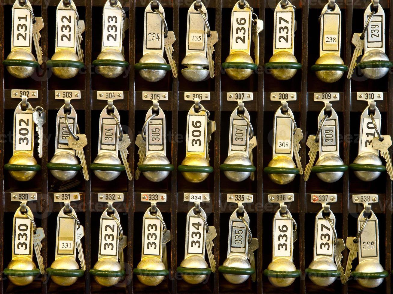 hotel receptie sleutelrek. foto