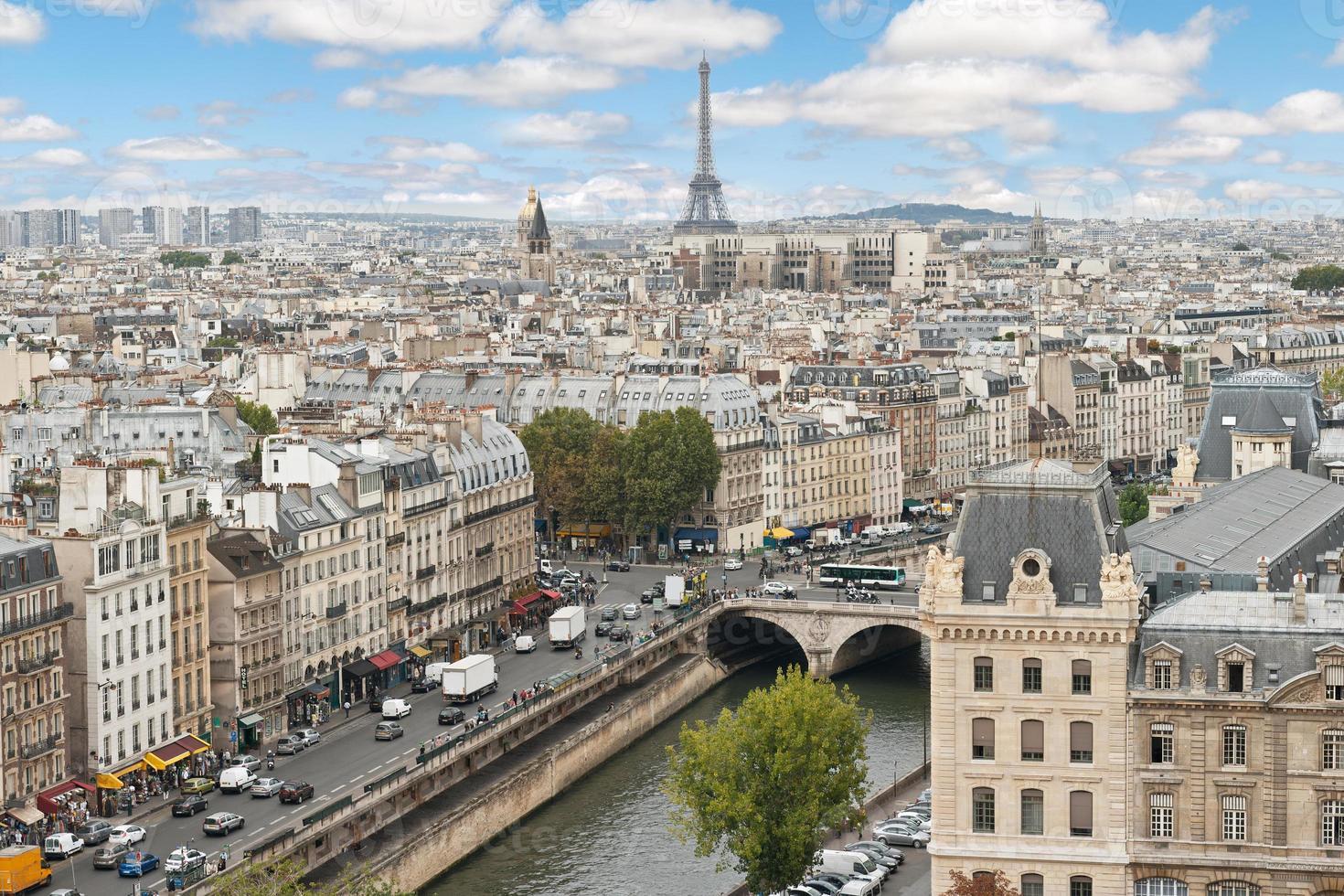 panoramisch van Parijs foto