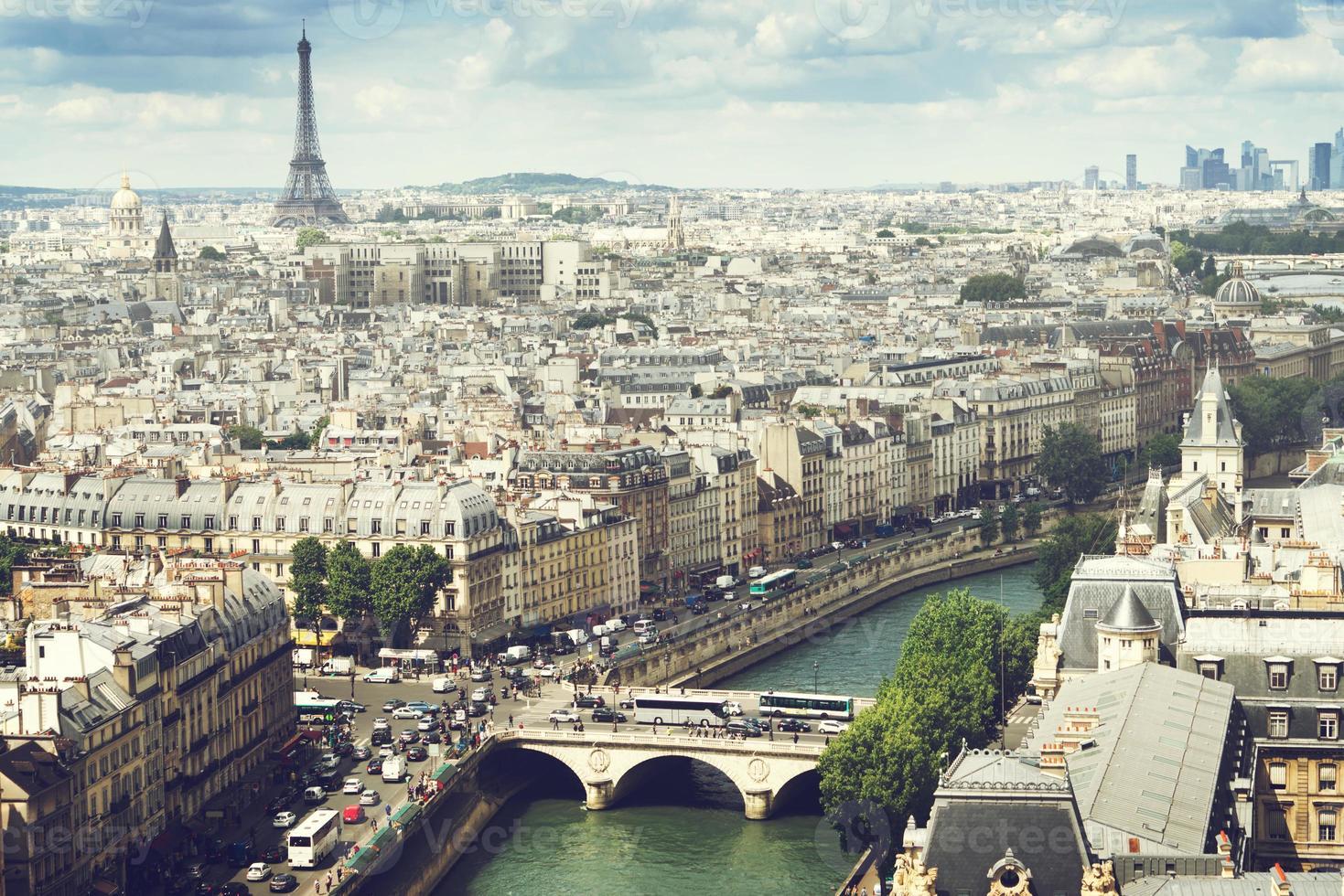 zicht op Parijs, Frankrijk foto