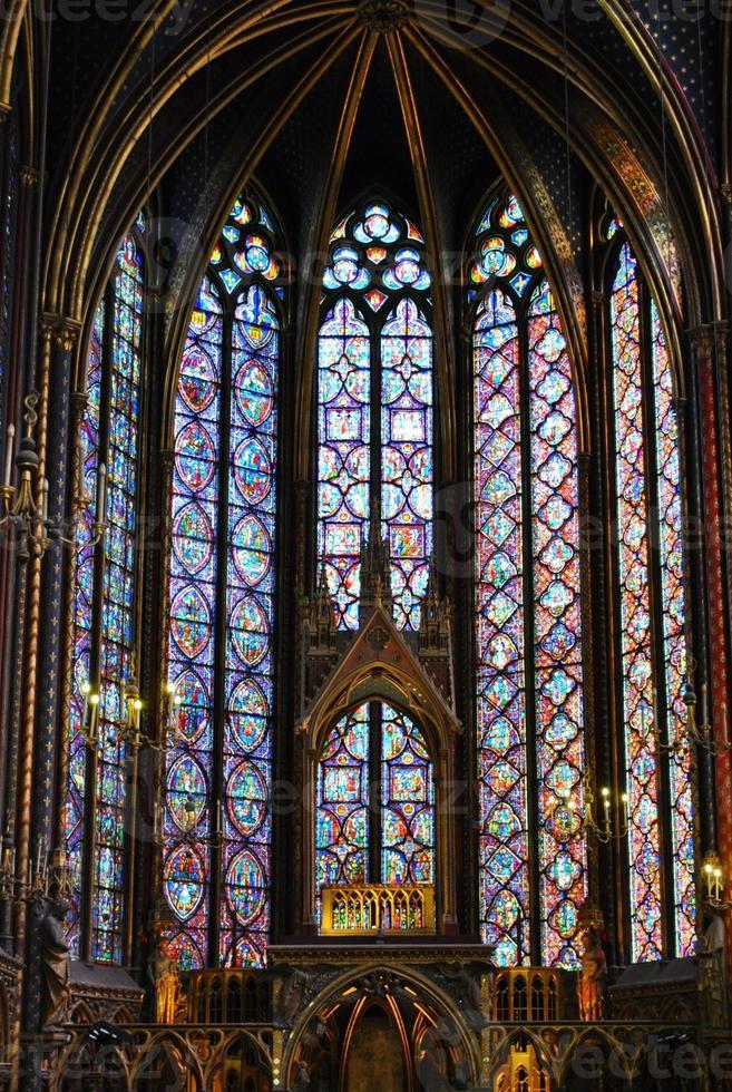 st. chapelle, parijs foto