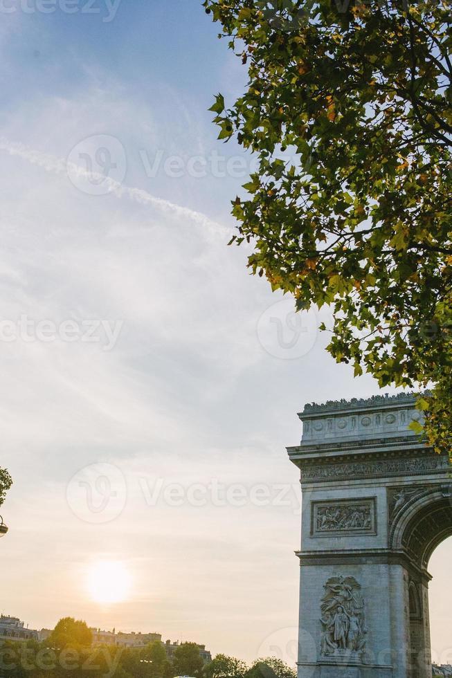 triomfboog, Parijs, Frankrijk foto