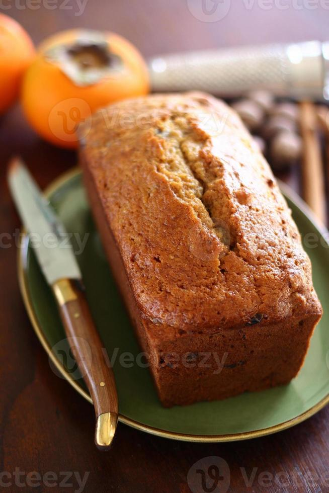 persimmon cake brood foto