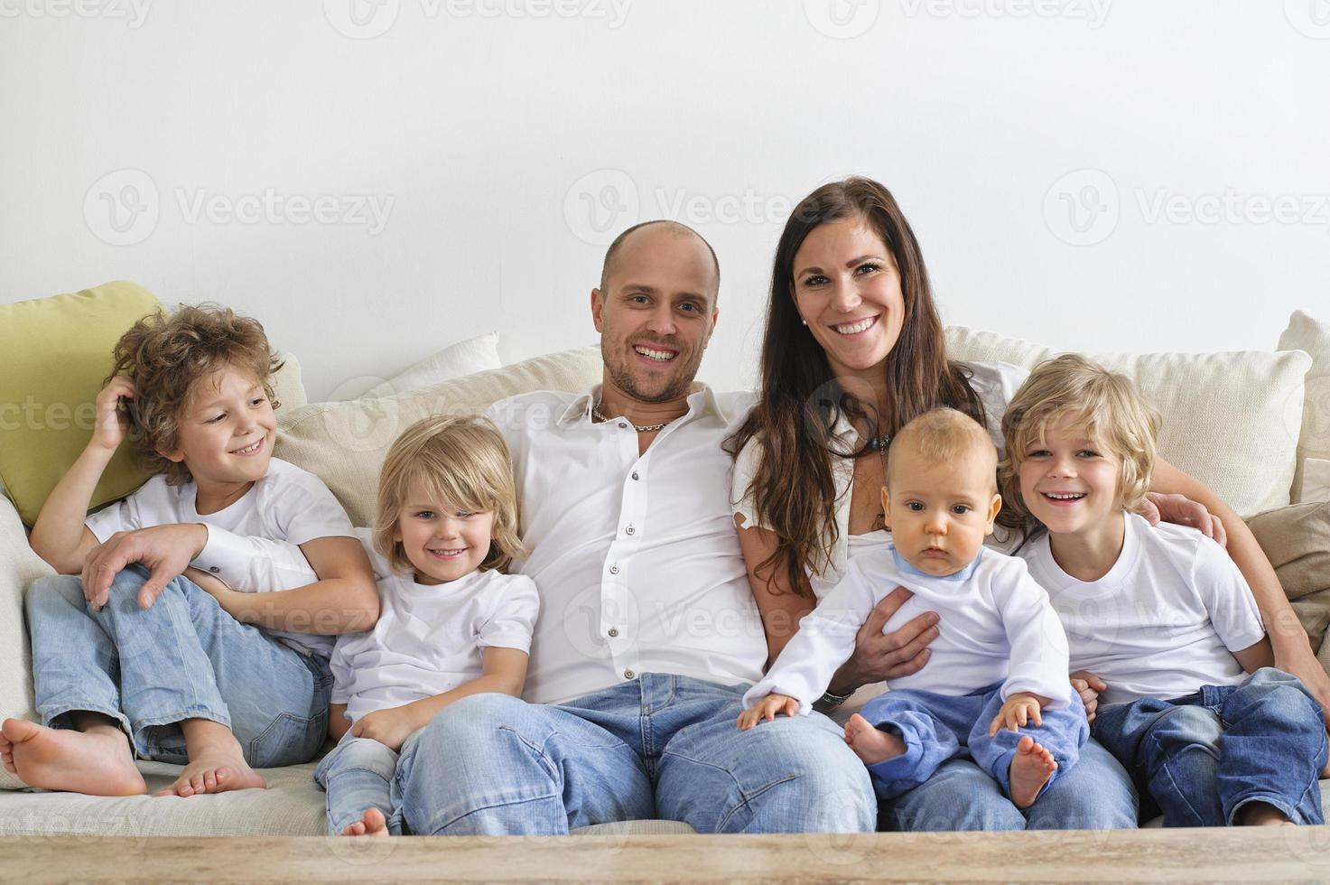 casual familieportret foto